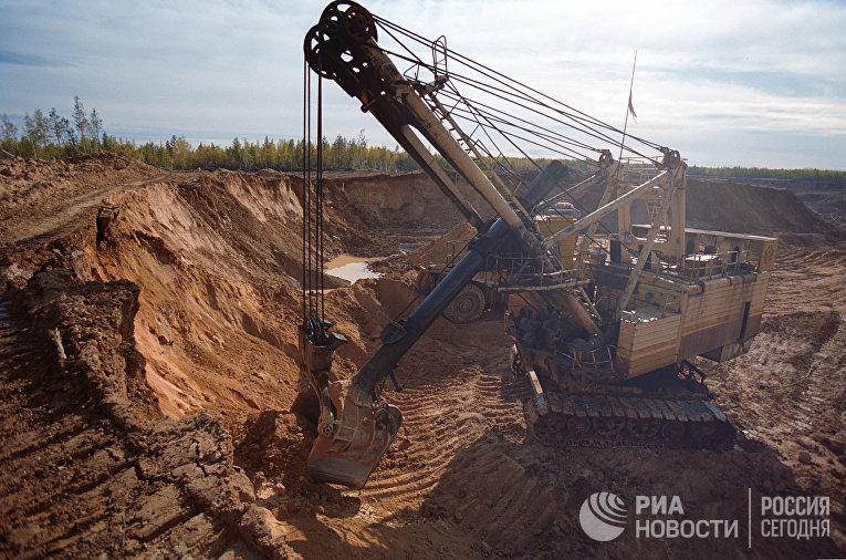 Добыча золотосодержащей руды экскаваторным способом