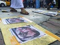 Акция в Индонезии против политики Э. Макрона