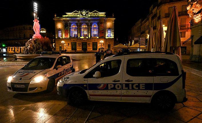 Французские полицейские в Монпелье
