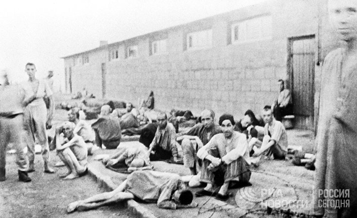 Узники немецкого лагеря смерти Маутхаузен