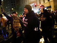 Участники акции протеста в Вашингтоне, США