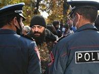 Митинг за освобождение подозреваемых в покушении на премьер-министра Армении Н. Пашиняна