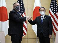 Премьер-министр Японии Есихидэ Суга и госсекретарь США Майк Помпео