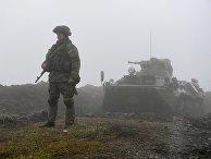 Нагорный Карабах. Российские миротворцы обеспечивают безопасность движения