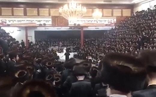 Cекретная свадебная церемония на 7000 человек в синагоге в Бруклине