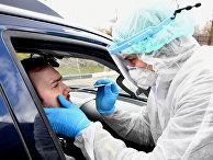 Сдача анализов на коронавирус не выходя из машины