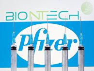 Логотипы Pfizer и BioNTech