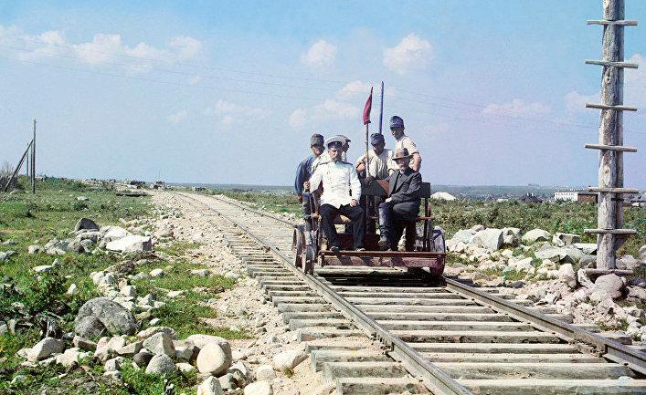 Прокудин-Горский неподалеку от Петрозаводска, 1910 год