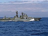 """Большой противолодочный корабль """"Адмирал Виноградов"""" в походе"""