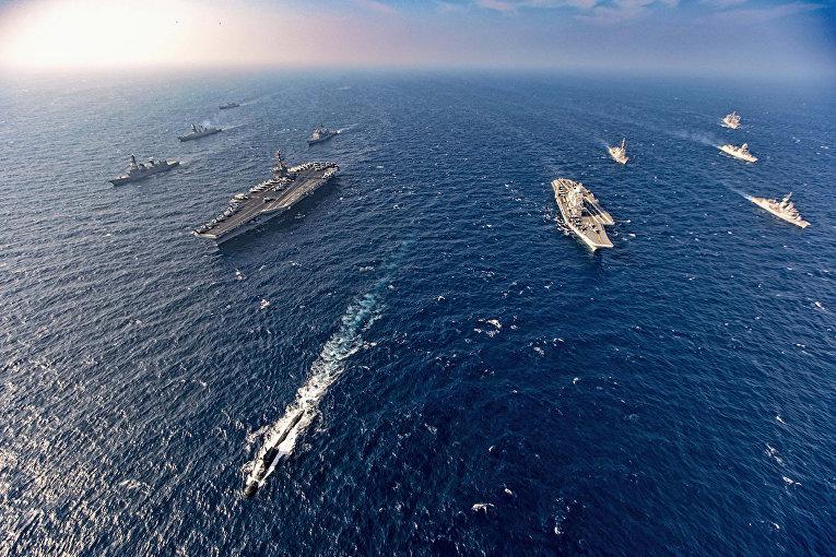 Военные учения Индии, США, Японии и Австралии «Малабар-2020»