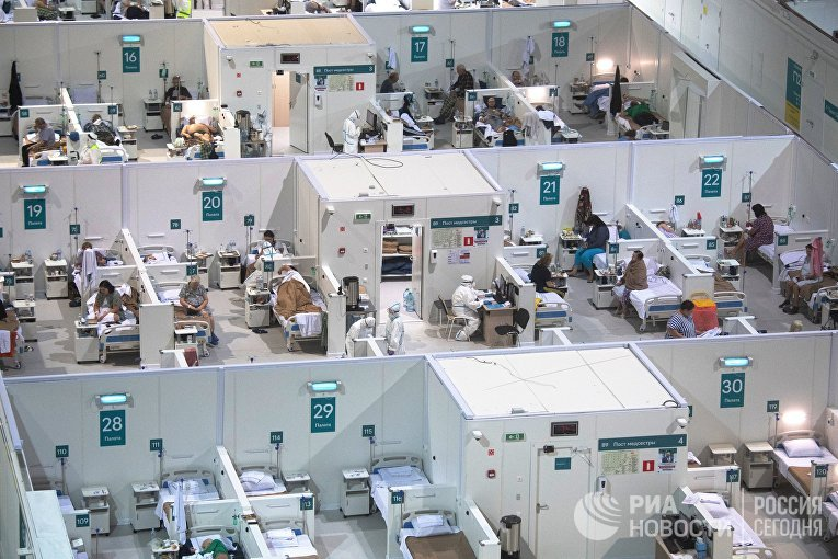 """Временный госпиталь COVID-19 в """"Крылатском"""""""