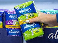 Средства женской гигиены в супермаркете в Глазго