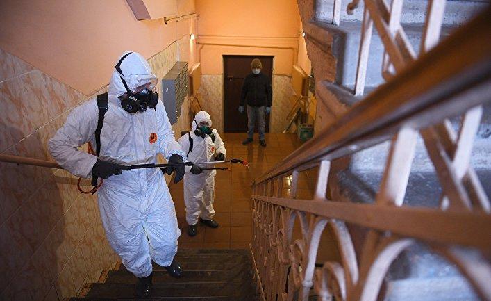 Дезинфекция жилых домов в связи с коронавирусом