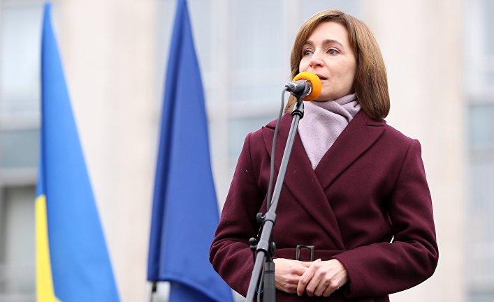 Избранный президент Молдавии Майя Санду