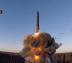 Пуск МБР «Ярс» с космодрома Плесецк