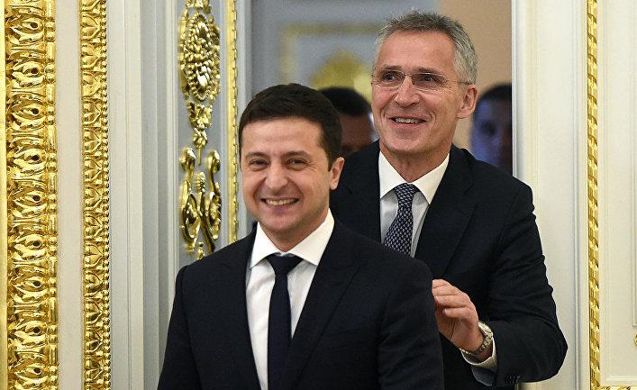 Президент Украины Владимир Зеленский и генеральный секретарь НАТО Йенс Столтенберг