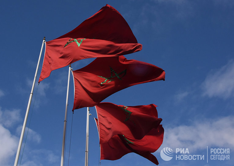 Государственные флаги Марокко.