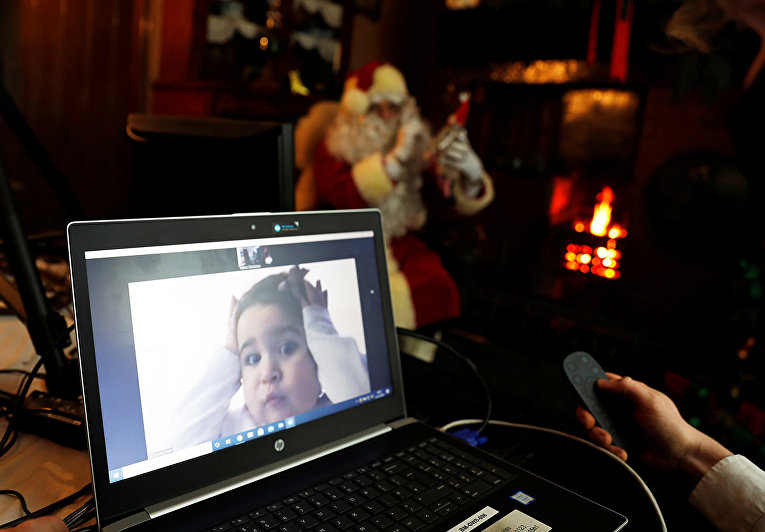 Видеозвонок от Санты в Бимише, графство Дарем, Великобритания