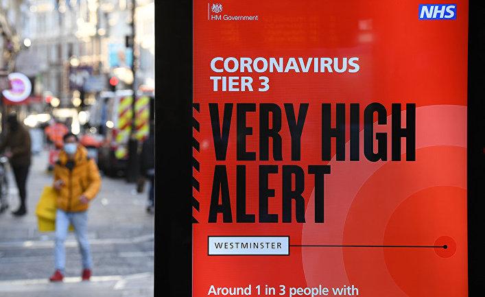 Предупреждение об опасности коронавируса в Лондоне