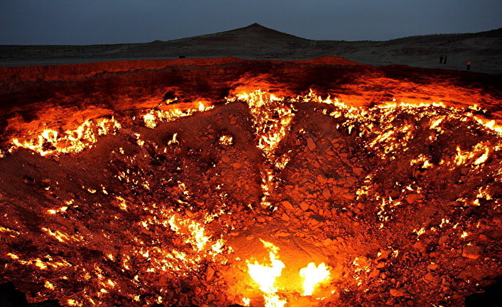 Газовый кратер Дарваза в Туркменистане