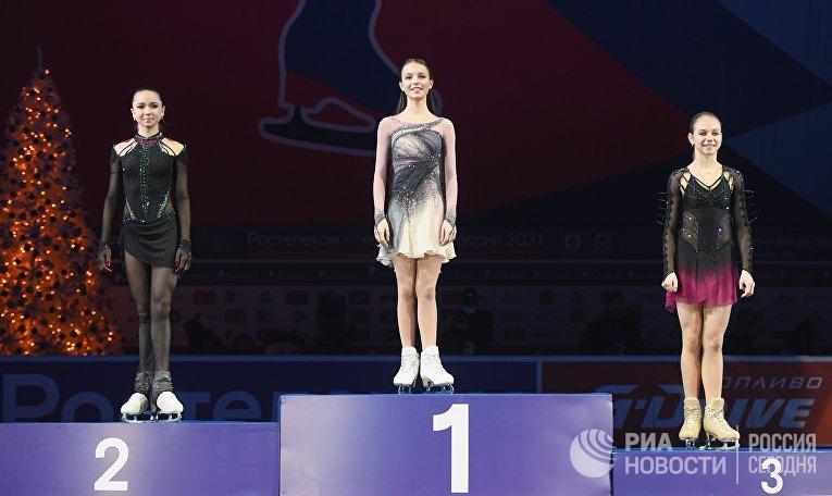 Фигурное катание. Чемпионат России. Церемония награждения