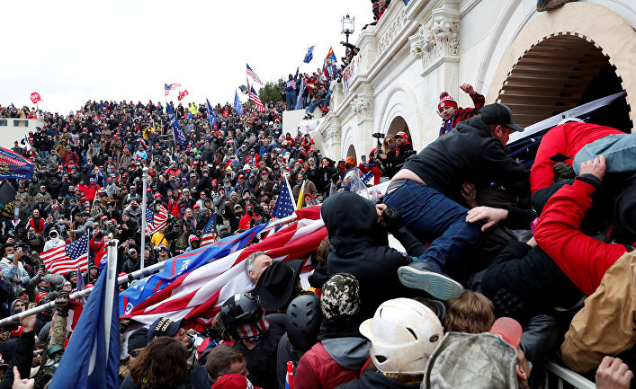Сторонники президента США Дональда Трампа собираются в Вашингтоне