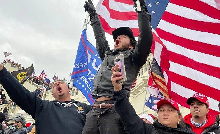 Акция протеста сторонников Д. Трампа в Вашингтоне
