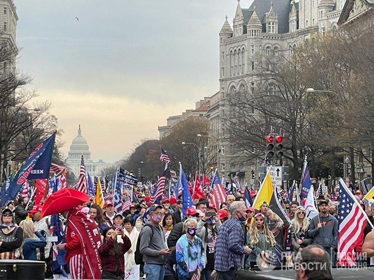 Акция сторонников Трампа в Вашингтоне