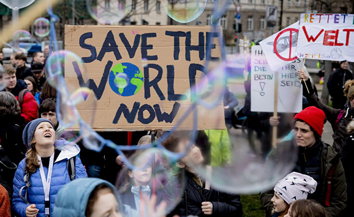 Акция экологического движения «Пятницы ради будущего» вБерлине, Германия