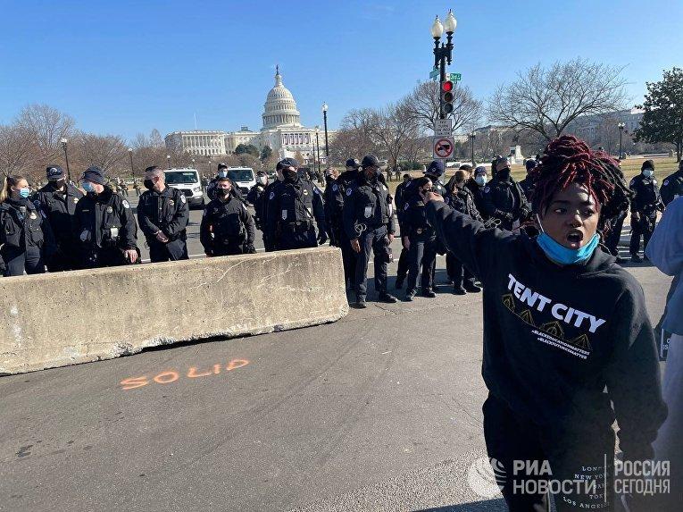 Ситуация в Вашингтоне в связи с рассмотрением вопроса об импичменте Д. Трампу