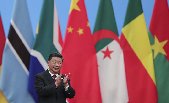 """Председатель КНР Си Цзиньпин на Форуме сотрудничества """"Китай-Африка"""". 4 сентября 2018"""