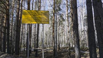 Предупреждающее объявление при въезде в Озерск