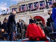 Леди Гага прибывает на инаугурацию Джо Байдена, чтобы исполнить национальный гимн США