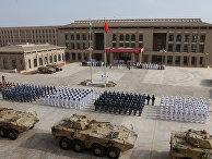Церемония открытия новой китайской военной базы в Джибути