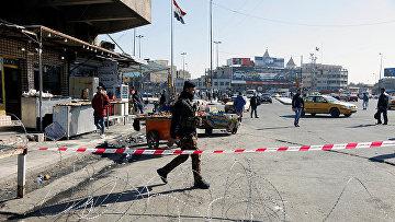 Последствия взрыва на рынке в Багдаде, Ирак