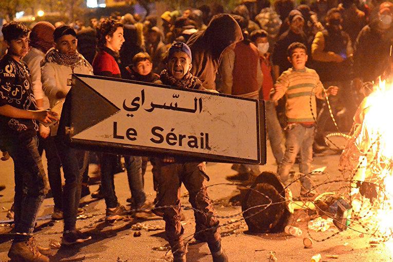 Участники беспорядков в Триполи