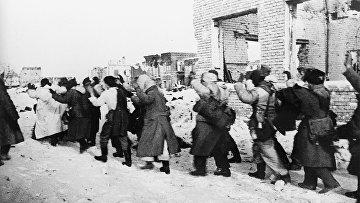 Немецкие военнопленные. Сталинград