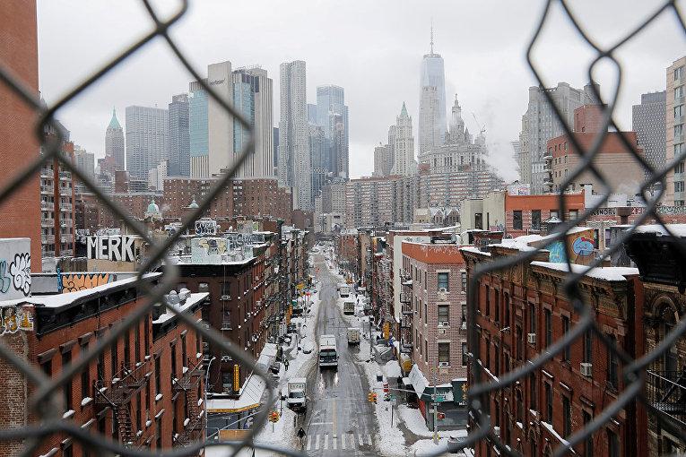 Нью-Йорк после сильного снегопада
