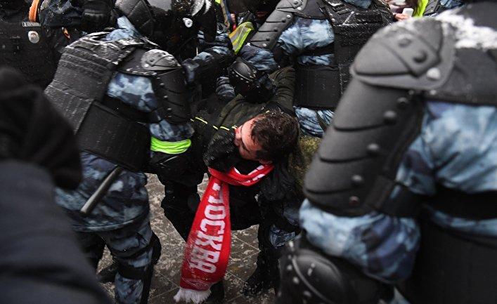 Несанкционированные акции протеста сторонников А. Навального