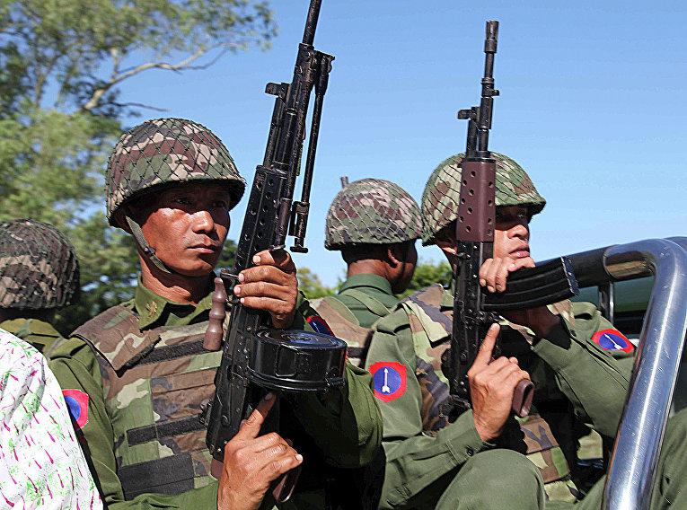 Военнослужащие армии Мьянмы. Архивное фото