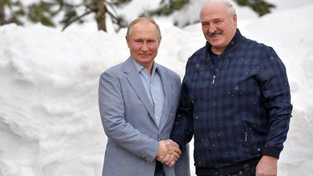 TUT (Белоруссия): поговорили и покатались на лыжах. Лукашенко и Путин встретились в Сочи