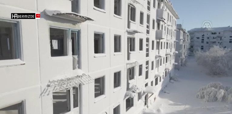 Российский город-призрак заледенел в пятидесятиградусный мороз