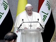 Папа Римский Франциск во время визита в Багдад, Ирак