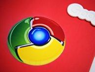 Блокнот с логотипом Google Chrome