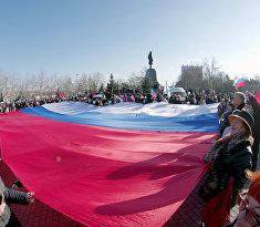 """Митинг движения """"Антимайдан"""" в Крыму"""