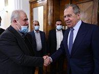 Встреча главы МИД РФ С. Лаврова с руководителем фракции движения Хизбаллы М. Раадом