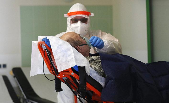 Больница во время наплыва пациентов с covid-19, Чехия