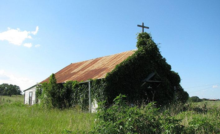Заброшенная церковь в Малдуне, Техас