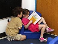 Ученики дошкольного учебного заведения в Атланте, США
