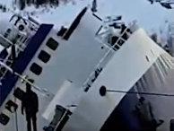 Российский траулер опрокинулся при спуске на воду в норвежском Киркенесе